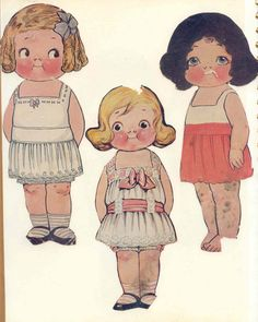 Dolly Dingle Paper Dolls, sometimes referred to as the Campbell Soup Kids.