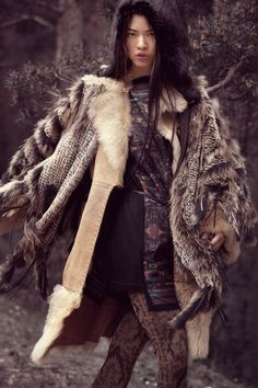 "L'autre Magazine ""Mongol"" by Jose Herrera Nomad Fashion, Ethnic Fashion, Asian Fashion, Boho Fashion, Fashion Beauty, Winter Fashion, Fashion Design, Fashion Art, Casual Chique"