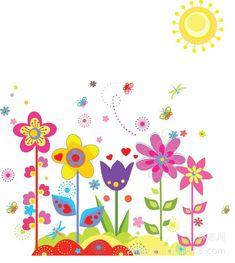 vendita calda 2014 cartone animato fiore e fiore murale bambino a casa adesivo rimovibile muro decalcomanie spedizione gratuita
