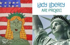 Statue-of-Liberty-Art-project Planning this into 3rd grade, connecting it with patriotic symbols social studies content