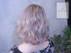 まなみcolor💭💭 . グラデーション×クリーミーパール . hair by @manax_x . . #shachu #hair #color #ヘアカラー #bob #ハイトーン #グラデーション #クリーミーパール #ウェーブ #波打ち