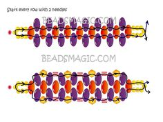 Easy 2-needle superduo bracelet from beadsmagic.  #Seed #Bead #Tutorials