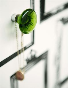 green glass This & That Gifts likes this eyecatching and elegant cabinet knob.