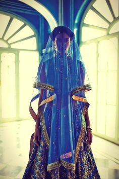 indian fashion. anarkali inspired. anita dongre. blue. bridal. Blue bridal wear. Indian bridal wear. South asian desi bride.