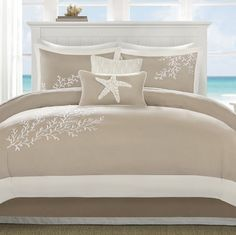 Discover the best coastal bedding sets and beach bedding sets. You will love our beach home bedding sets like comforters, quilts, and duvet cover sets. Beach Bedding Sets, Coastal Bedding, Coastal Bedrooms, Coastal Decor, Comforter Sets, Luxury Bedding, Coastal Style, Nautical Bedding, King Comforter
