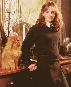 Hermione and her cat