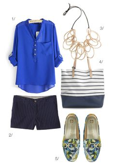 how to look chic in shorts: featuring the iris statement necklace by megan auman // click for outfit details