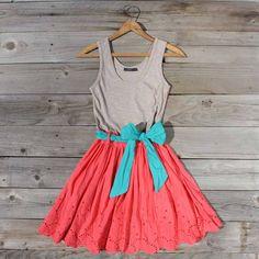 Spin & Loom Dress in Watermelon, Sweet Women's Country Clothing por Spool72.com - Shopcliq