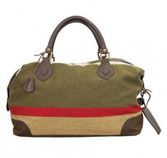 Striped Wool Explorer Bag, Barbour
