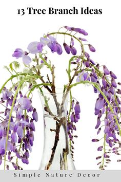 Decorating with Tre branches you find outside. #trees #branches #blossomideas #flowerideas