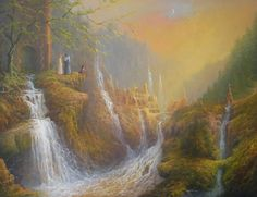 Rivendell Wisdom Of The Elves. Painting by Joe Gilronan - Rivendell Wisdom Of The Elves. Fine Art Prints and Posters for Sale
