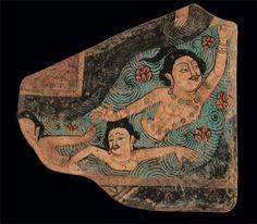 Swimmers, Kizil Cave. Murals from Bezelikart | mundus | A arte do mundo