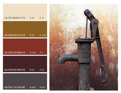 rust color inspiration, rust color scheme, rust color mood board