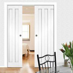 White Primed Pocket Doors – Page 12 Double Pocket Door, Pocket Door Frame, Pocket Doors, Primed Doors, Flush Doors, Architrave, Door Furniture, Types Of Doors, Internal Doors