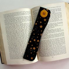 Fabric Bookmark Stars Bookmark Bookmarker by TwiggyandOpal on Etsy, $5.25