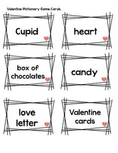 pictionary valentine game cards put into a fun valentine jar set a timer and let - Valentine Games For Church