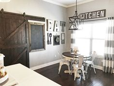 #dining | #farmhouse #rustic #industrial #gray #wood #stain #dark
