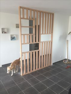 DIY Cloison bois verrière claustra. Séparation pièce entrée salon. Aménagement et décoration maison.  Home sweet home