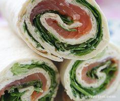 salmon wraps.. mmm