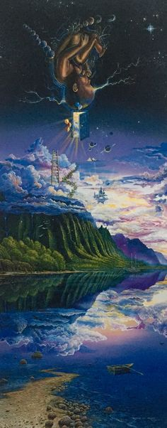 "Robert Lyn Nelson  SURREALISM. Prologue To A Promise"" 72x24 inches  #art #surrealism #oilpainting  @robertlynnelson.com"