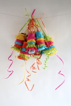 Cinco de Mayo mini pinatas, cluster together like this or string on a line…
