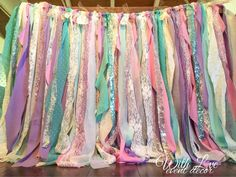 Ready in 3 weeks.  Shades of lavender, mint, white, and pink flowy fabric, cream…