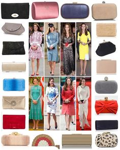Why Duchess Kate Carries Clutches  The Duchess of Cambridge favours clutches when on official duty and has quite an extensive collection of them (many shown above). She has never carried a handbag with her to an official royal engagement; not only is such a large item not necessary when visiting a particular charity for a couple of hours, but it isn't as subtle as a small clutch. While they are typically used to carry things such as a cellphone, car keys and money (none of which Kate…