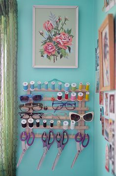 Thread and glasses organizer