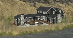 Located in Jackson, WY, this new single family modern farmhouse residence is located along Flat Creek nestled below East Gros Ventre Butte. Several dark cedar gable masses surround an outdoor terrace that has views of the creek and Snow King beyond. Estimated for a Spring 2018 construction start.