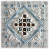 Round the Year - Two designs with the same basic structure, but a variety of worked bars, fillings and surface stitches – and three different colour schemes!