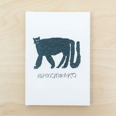 Miroco Machiko Letterpress Card Set Panthera