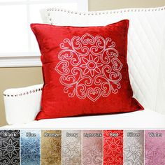 Henna Rhinestone Stud Velvet Pillow 19 x 19 (Set of 2) - $56 (in any color EXCEPT red!!!)