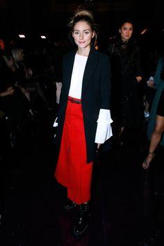 Olivia Palermo - Nina Ricci Spring 2017 Show Front Row - October 1, 2016 #opss17pfw