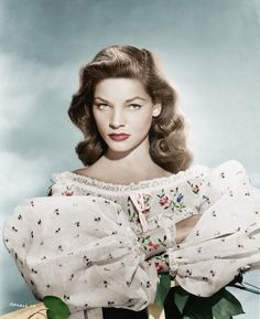 Vintage hairstyles Lauren Bacall Hair Love it Golden Age Of Hollywood, Vintage Hollywood, Hollywood Glamour, Hollywood Stars, Hollywood Actresses, Classic Hollywood, Hollywood Fashion, Pure Hollywood, 1940s Fashion