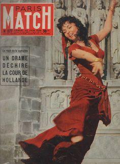 Paris Match N°377 Gina Lollobrigida Cour DE Hollande | eBay