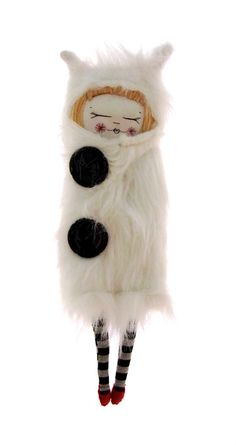 """Fur coat Girl"" by Lucy Brasher of ""The cat in the shoe"" (Etsy shop)"