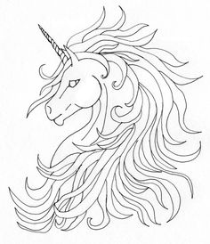 Unicorn with Wings Coloring Page Best Of Unicorn Tattoo by On Deviantart Unicorn Outline, Unicorn Wings, Unicorn Drawing, Unicorn Head, Unicorn Art, Unicorn Tattoos, Wolf Tattoos, Tatoos, Horse Drawings