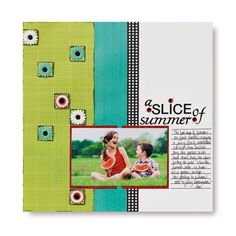 A Slice of Summer Enchanted Scrapbook Project Layout Idea