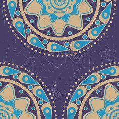 Grunge blue ornament