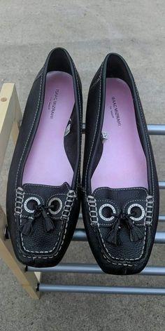 d4e99e14b Womens Black Gail Leather Slip On Shoes by Isaac Mizrahi Size 10  fashion   clothing
