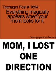 i hope i lose them and my mom will find them