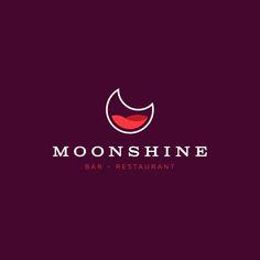 Logo Discover 31 amazing bar logos to inspire you - 31 amazing nightclub and bar logos to inspire you - Logo Design Inspiration, Creative Inspiration, Pub Logo, Wine Logo, Restaurant Logo Design, Moon Logo, Minimal Logo Design, Wine Brands, Logo Food