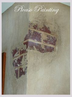 Fab example of Faux Breakaway Plaster Exposed Brick Using Joint Compound <3 faux exposed brick wall, faux brick painting, expos brick