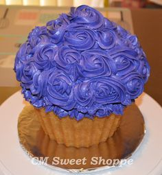 large cupcake purple frosting - Google Search