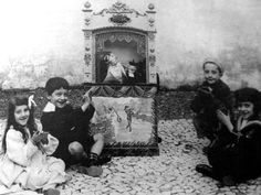 1910, puppets on the street. lisbon - portugal