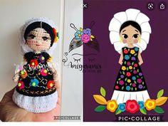 Muñeca mini Tehuana amigurumis by Petus - YouTube Crochet Videos, Doll Clothes, Harajuku, Tattoo, Dolls, Mini, Creative, Youtube, Amigurumi Patterns