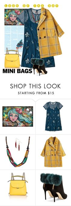 """""""Look of the day - mini bags"""" by no-where-girl ❤ liked on Polyvore featuring Hollister Co., Fendi, Jimmy Choo and minibags"""