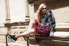 Daria Kunilovskaya from @fashiondailyrus with #ShineBabyShine #Firenze #Pitti #MyPINKOExperience #PINKO