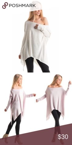 JUST ARRIVED Asymmetrical Light Gray Tunic Soft, thin and oversized. This will quickly become your favorite top to live in. It can be worn on or off the shoulder. Perfect for a night at the beach! Dress it up with a nice pair of jeans or leggings and a pair of wedges or dress down with jeans or shorts and sneakers. 70% polyester 26% rayon 4% spandex Boutique Tops Tees - Long Sleeve