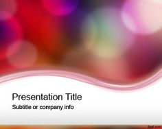 Color lights PowerPoint Template is a free PowerPoint template with color bubbles in PowerPoint slide that you can download to make awesome and attractive PowerPoint presentations